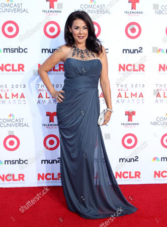 Patricia Rae arrives at the NCLR ALMA Awards at the Pasadena Civic Auditorium, in Pasadena, Calif