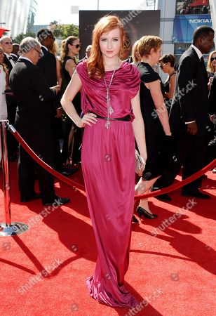 Stock Image of Mary Kate Wiles arrives at the 2013 Primetime Creative Arts Emmy Awards, on at Nokia Theatre L.A. Live, in Los Angeles, Calif