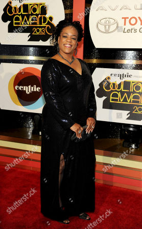 Stock Picture of Singer Evelyn 'Champagne' King arrives at the 2013 Soul Train Awards at the Orleans Arena on in Las Vegas