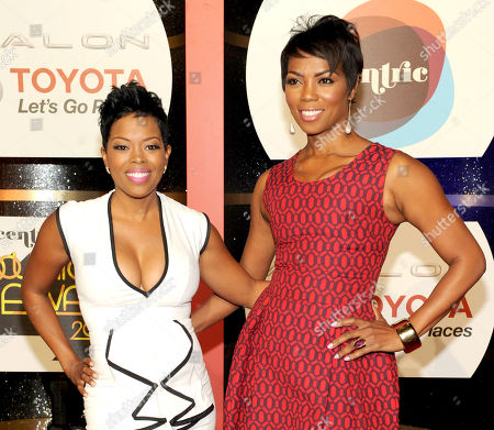 Actresses Malinda Williams, left, and Vanessa A. Williams arrive at the 2013 Soul Train Awards at the Orleans Arena on in Las Vegas