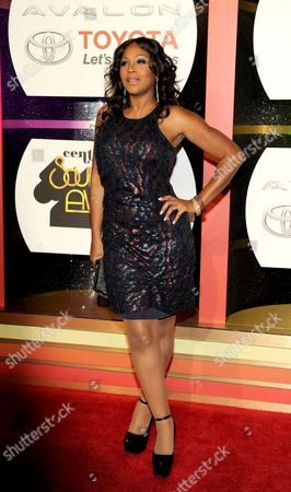 Singer Trina Braxton arrives at the 2013 Soul Train Awards at the Orleans Arena on in Las Vegas