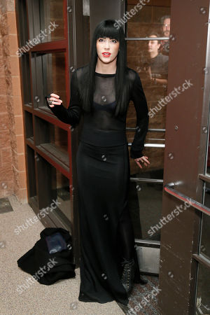 "Songwriter Audrey Napoleon poses at the premiere of ""The Necessary Death of Charlie Countryman"" during the 2013 Sundance Film Festival on in Park City, Utah"