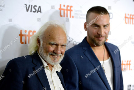 "Actor Kenneth Welsh, left, and Dax Ravina arrive at the premiere of ""The Art of the Steal"" on day 7 of the Toronto International Film Festival at Roy Thomson Hall on in Toronto"