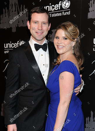 UNICEF Next Generation member Jenna Bush Hager, right, and husband Henry Hager attend the ninth annual UNICEF Snowflake Ball at Cipriani Wall Street, in New York