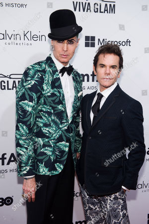 Patrick Mcdonald, left, and Stephen Knoll attend amfARâ?™s fifth annual Inspiration Gala on in New York