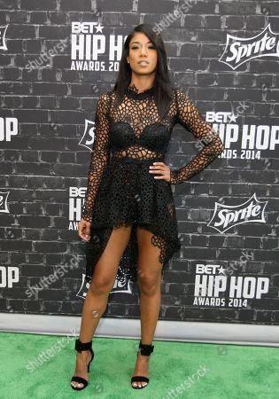 Hip Hop artist Mila J was seen arriving at the 2014 BET Hip Hop Awards held at the Atlanta Civic Center, in Atlanta, Ga