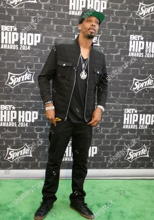 Hip Hop artist Chevy Woods was seen arriving at the 2014 BET Hip Hop Awards held at the Atlanta Civic Center, in Atlanta, Ga
