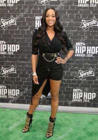 Reality star Mimi Faust was seen arriving at the 2014 BET Hip Hop Awards held at the Atlanta Civic Center, in Atlanta, Ga