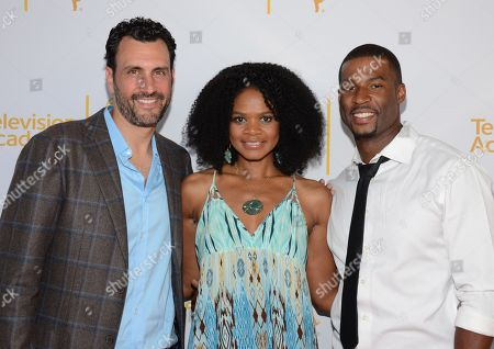 James LaRosa, Kimberly Elise and Robert Christopher Riley seen at the Television Academy's 66th Emmy Awards Choreographers Nominee Reception on in the NoHo Arts District in Los Angeles