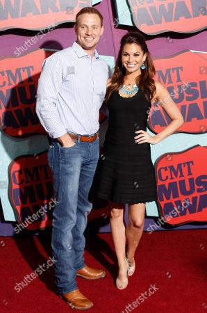 Stock Photo of Tye Strickland, left, and Melissa Rycroft arrive at the CMT Music Awards at Bridgestone Arena, in Nashville, Tenn
