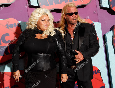 Beth Chapman, left, and Duane Chapman arrive at the CMT Music Awards at Bridgestone Arena, in Nashville, Tenn