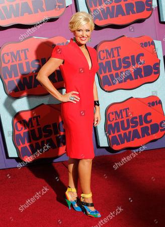 Allison DeMarcus arrives at the CMT Music Awards at Bridgestone Arena, in Nashville, Tenn