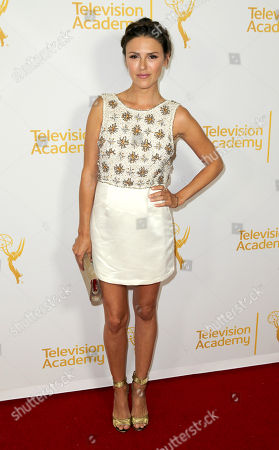 Elizabeth Hendrickson arrives at the 2014 Daytime Emmy Nominee Reception presented by the Television Academy at The London West Hollywood on