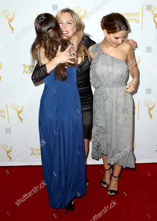 Haley Pullos, and from left, Kelly Sullivan and Lisa LoCicero arrive at the 2014 Daytime Emmy Nominee Reception presented by the Television Academy at The London West Hollywood on