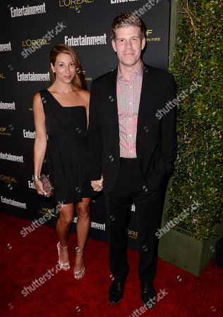 Stock Image of Tracy Rannazzisi, left, and Steve Rannazzisi arrives at Entertainment Weekly's Pre-Emmy Party sponsored by L'Oreal Paris and Hearts On Fire at Fig & Olive in West Hollywood, Calif. on
