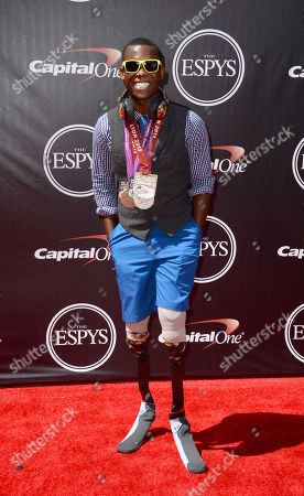 Blade runner Blake Leeper arrives at the ESPY Awards at the Nokia Theatre, in Los Angeles