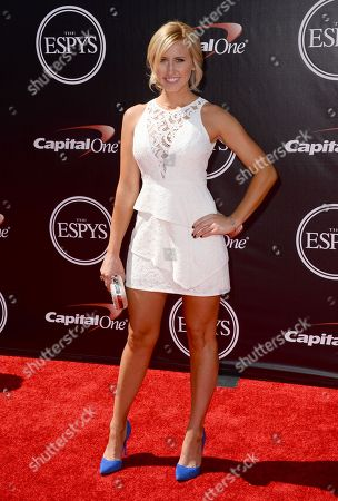 Racer Courtney Force arrives at the ESPY Awards at the Nokia Theatre, in Los Angeles