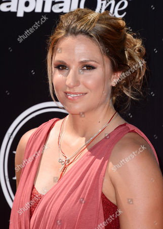 Stock Photo of Mountaineer Melissa Arnot arrives at the ESPY Awards at the Nokia Theatre, in Los Angeles