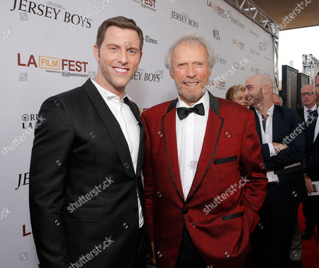 Michael Lomenda and Clint Eastwood attend the Warner Bros. Premiere of 'Jersey Boys' at the 2014 Los Angeles Film Festival held at Regal Cinemas LA Live Stadium 14, in Los Angeles