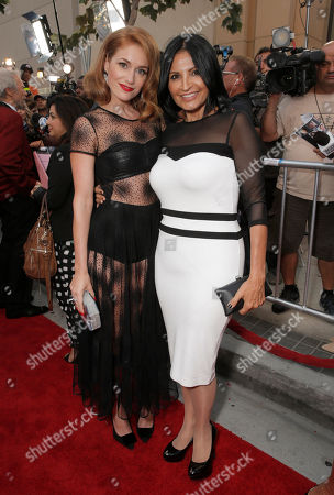 Erica Piccininni and Kathrine Narducci attend the Warner Bros. Premiere of 'Jersey Boys' at the 2014 Los Angeles Film Festival held at Regal Cinemas LA Live Stadium 14, in Los Angeles
