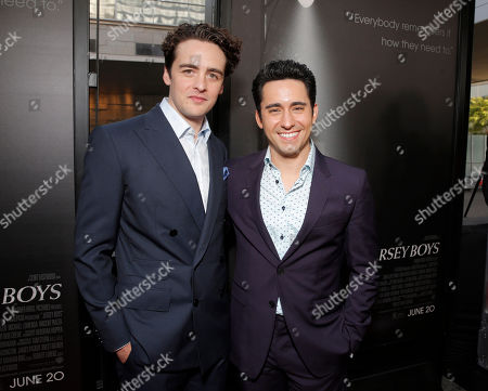 Vincent Piazza and John Lloyd Young attend the Warner Bros. Premiere of 'Jersey Boys' at the 2014 Los Angeles Film Festival held at Regal Cinemas LA Live Stadium 14, in Los Angeles