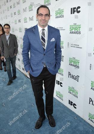 Chad Hartigan arrives at the 2014 Film Independent Spirit Awards,, in Santa Monica, Calif