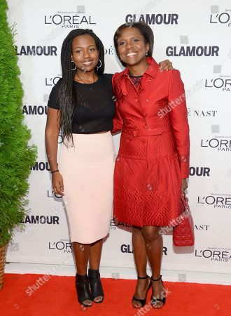 Deborah Roberts and daughter Leila Roker attend the 2014 Glamour Women of the Year Awards at Carnegie Hall, in New York