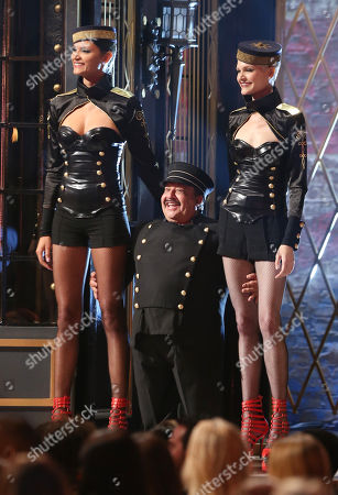 Chuy Bravo, center, appears onstage at the Guys Choice Awards at Sony Pictures Studios, in Culver City, Calif