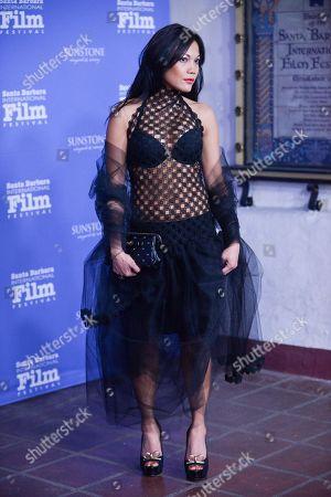 Stock Picture of Hazel Morillo arrives at 2014 Santa Barbara International Film Festival - American Riviera Award ceremony on Friday, Feb, 7, 2014 in Santa Barbara, Calif
