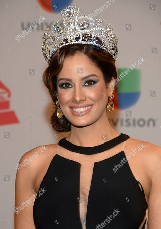 Aleyda Ortiz arrives at the 15th annual Latin Grammy Awards at the MGM Grand Garden Arena, in Las Vegas
