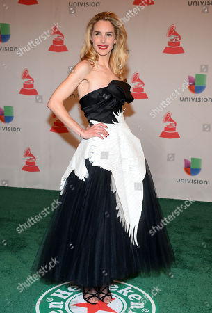 Eglantina Zingg arrives at the 15th annual Latin Grammy Awards at the MGM Grand Garden Arena, in Las Vegas