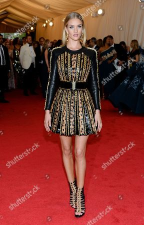 """Rosie Huntington-Whitley attends The Metropolitan Museum of Art's Costume Institute benefit gala celebrating """"Charles James: Beyond Fashion"""", in New York"""