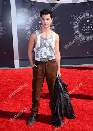 Stock Image of Michael Willett arrives at the MTV Video Music Awards at The Forum, in Inglewood, Calif