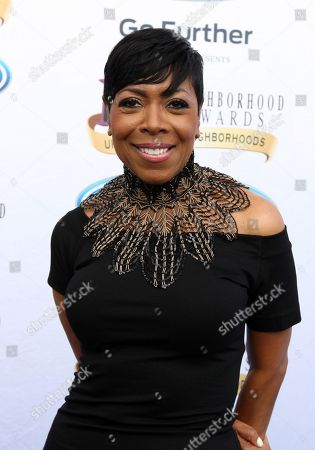 Actress Shirley Strawberry walked the Ford blue carpet at the 2014 Neighborhood Awards held at the Philips Arena, in Atlanta, Ga