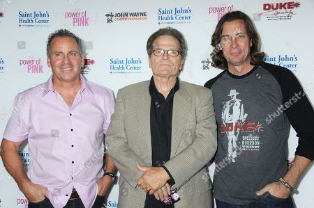 Ethan Wayne, from left, Patrick Wayne, and Chris Radomski arrive at 2014 Power of Pink: An Acoustic Evening With Pink And Friends at House of Blues, in Los Angeles