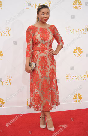 Zoe Soul arrives at the 66th Annual Primetime Emmy Awards at the Nokia Theatre L.A. Live, in Los Angeles