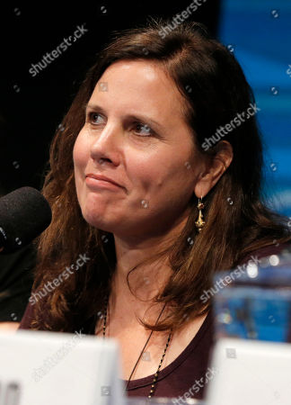 Lydia Dean Pilcher speaks on stage at the Produced By Conference - Day 2 at Warner Bros. Studios, in Burbank, Calif