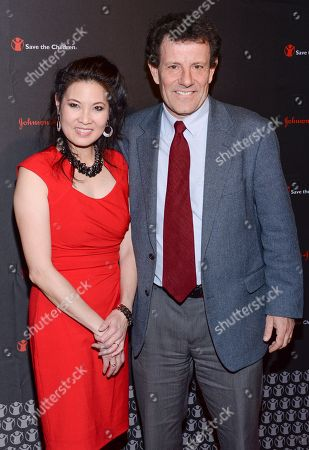 Journalists Sheryl WuDunn and Nicholas Kristof attend the 2nd Annual Save the Children Illumination Gala at The Plaza Hotel, in New York