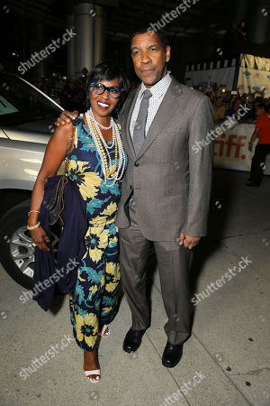 "Stock Image of Pauletta Pearson Washington and Denzel Washington seen at Columbia Pictures Premiere of ""The Equalizer"" at 2014 TIFF, in Toronto"