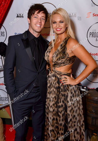 J.D. Scott, left, and Angeline-Rose Troy attend the Producers Ball at the Royal Ontario Museum, in Toronto