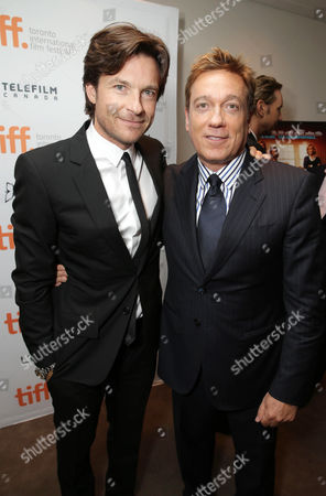 """Jason Bateman and CAA's Kevin Huvane seen at Warner Bros. """"This is Where I Leave You"""" Premiere at 2014 TIFF, in Toronto"""