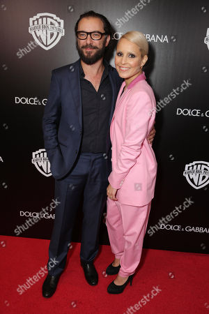 Ola Rapace and Noomi Rapace seen at Warner Bros. Pictures/Dolce&Gabbana cocktail party hosted by Sue Kroll and Greg Silverman at the Toronto International Film Festival, in Toronto