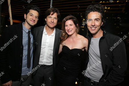 Stock Picture of Ben Schwartz, Jason Bateman, Kathryn Hahn and Shawn Levy seen at Warner Bros. Pictures/Dolce&Gabbana cocktail party hosted by Sue Kroll and Greg Silverman at the Toronto International Film Festival, in Toronto