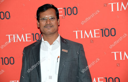 Inventor Arunachalam Muruganantham arrives at the 2014 TIME 100 Gala held at Frederick P. Rose Hall, Jazz at Lincoln Center on in New York