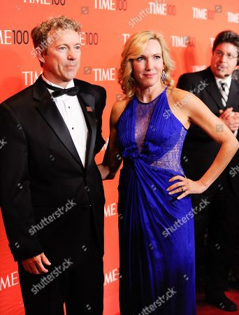 Sen. Rand Paul, R-Ky, and wife Kelley Ashby Paul arrive at the 2014 TIME 100 Gala held at Frederick P. Rose Hall, Jazz at Lincoln Center on in New York