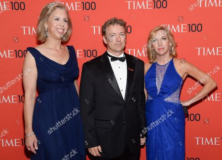 TIME managing editor Nancy Gibbs, left, Sen. Rand Paul, R-Ky, and wife Kelley Ashby Paul arrive at the 2014 TIME 100 Gala held at Frederick P. Rose Hall, Jazz at Lincoln Center on in New York