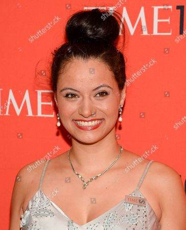 Stock Image of Withelma 'T' Ortiz Walker Pettigrew arrives at the 2014 TIME 100 Gala held at Frederick P. Rose Hall, Jazz at Lincoln Center on in New York