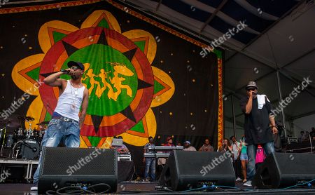 Juvenile performs with Juvenile & Mannie Fresh Together at the New Orleans Jazz & Heritage Festival, on in New Orleans