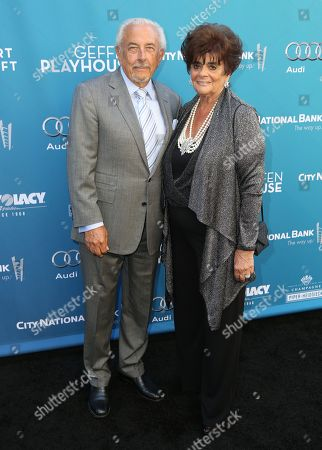 Stock Photo of Frank Mancuso, left, and Fay Mancuso attend Backstage at the Geffen, in Los Angeles