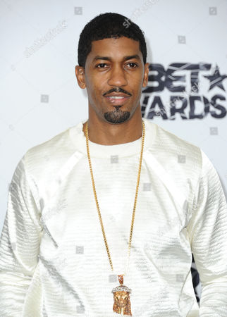 Fonzworth Bentley poses in the press room at the BET Awards at the Microsoft Theater, in Los Angeles